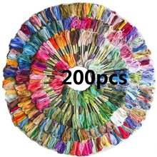 200Pcs Stickerei Gewinde Stränge Multi Farben Option Floss Ähnliche DMC Anchor Kreuz Stich Baumwolle Nähen Embroideried Themen(China)