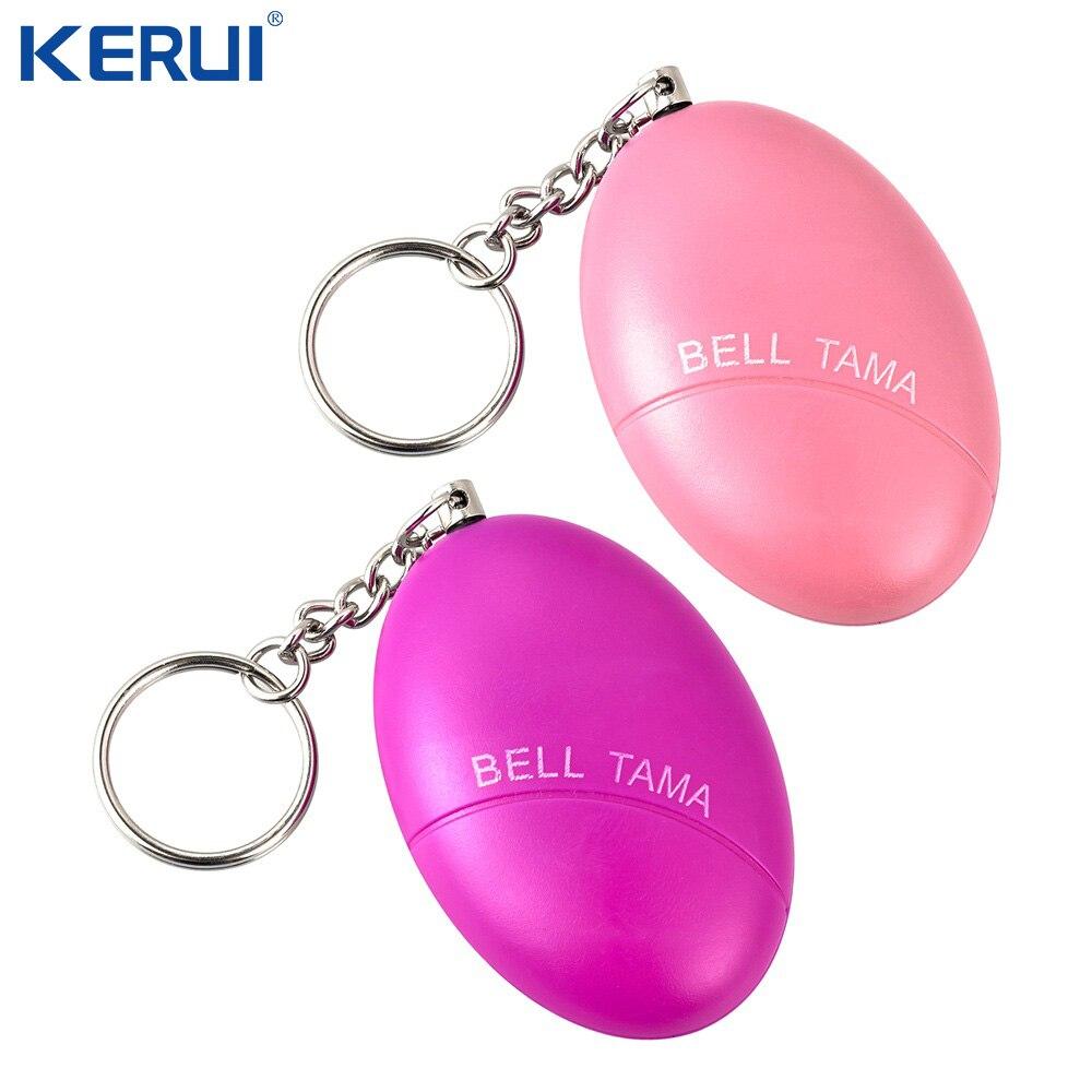 2 Pcs Anti-Attack Egg Shape Personal Anti-Defense Anti-Rape Security Alarm System Keychain Anti Wolf Loud Device