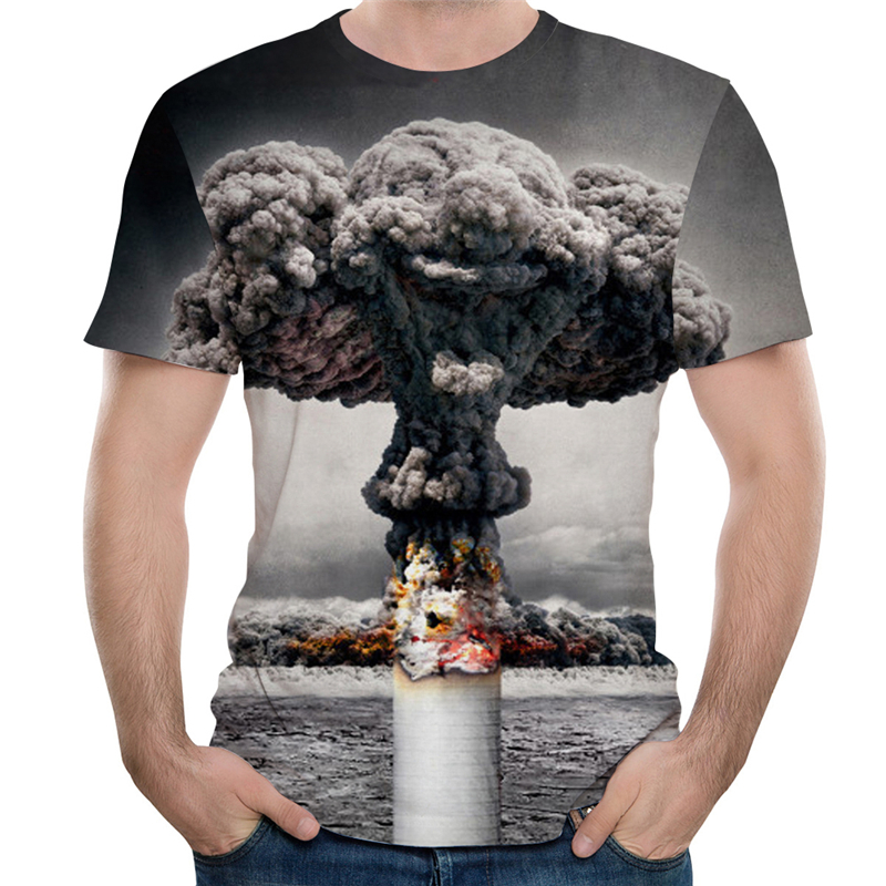 3D Explosion T Shirt Men Women Summer Short Sleeve Tee Shirt Hip Hop Clothing Streetwear Fashion Funny 3D Printing T-shirt