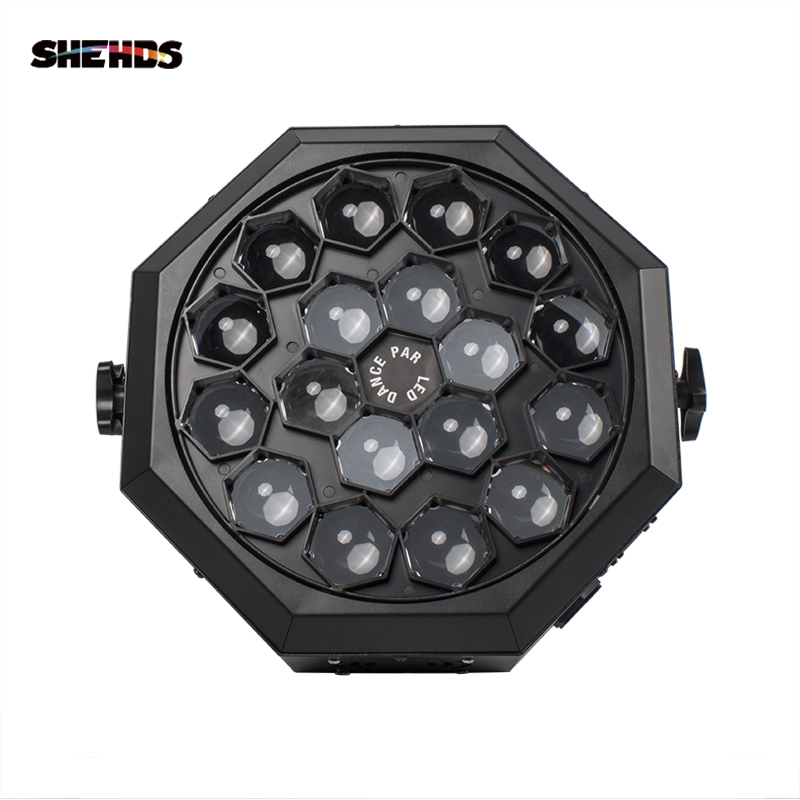 SHEHDS Free Shipping Led Par Bee Eye 18x12W RGBW Lighting  Stage Beam Light Professional DJ Disco Stage Lights