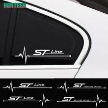 2 pçs/lote janelas Do Carro adesivo Para Ford Focus Fiesta Fusão Mondeo Ecosport Kuga Fuja Borda