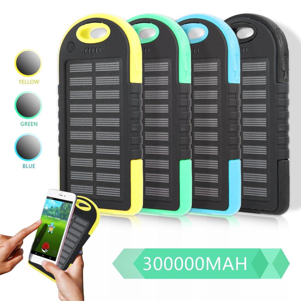 Двойной USB порт Открытый Кемпинг Светодиодный светильник 300000mAh солнечный банк питания для мобильного телефона внешний аккумулятор зарядное устройство        АлиЭкспресс