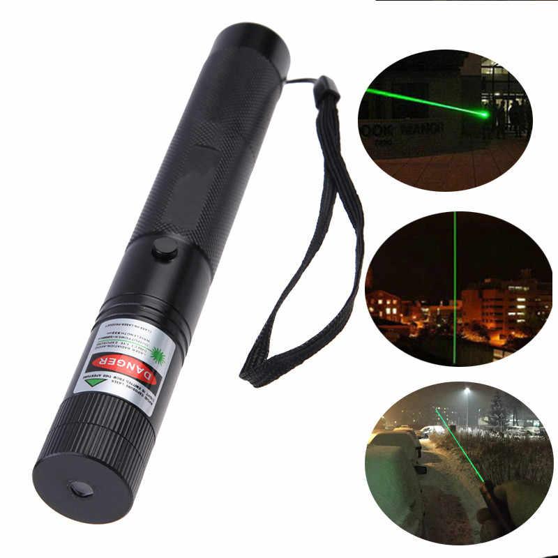 Erwachsene Tasche 2000-5000 Meter Grünen Laser-Pointer Stift Mit Stern Kappe 5mw lazer Outdoor Verteidigung Taschenlampe Stick bastao de defesa
