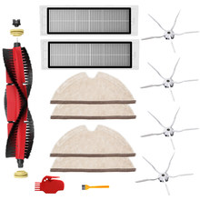 Removable Main Brush+Filter+Rag+5-Arm Side Brush+Cleaning Brush for Xiaomi Roborock S6 S5 MAX S60 Vacuum Spare Parts(China)