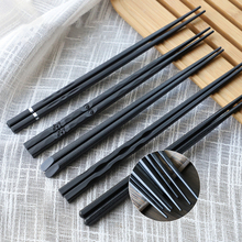1 Pair Japanese chopsticks Alloy Non-Slip Sushi Food sticks Chop Sticks Chinese Gift reusable chopsticks 10 pair japanese chopsticks alloy non slip sushi chop sticks set gift l513