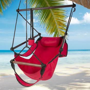 Hammock Garden Hang Lazy Chair Swinging Indoor Outdoor Furniture Hanging Rope Chair Swing Chair Seat bed Travel Camping 40a cotton rope garden swing chair thicken portable hammock with foot pad wooden indoor outdoor swing relax camping hang chair seat