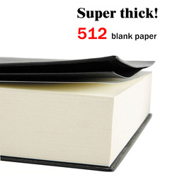 Soft Faux Leather Super Thick 512 Pages Blank Notebook A5 Daily Notebook Life Records Best for 3-4 Years Writing Office gift