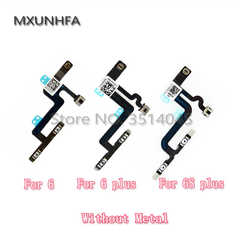 Volume Buttons /& Mute Toggle Flex Cable with Metal Bracket for Apple iPhone X with Glue Card