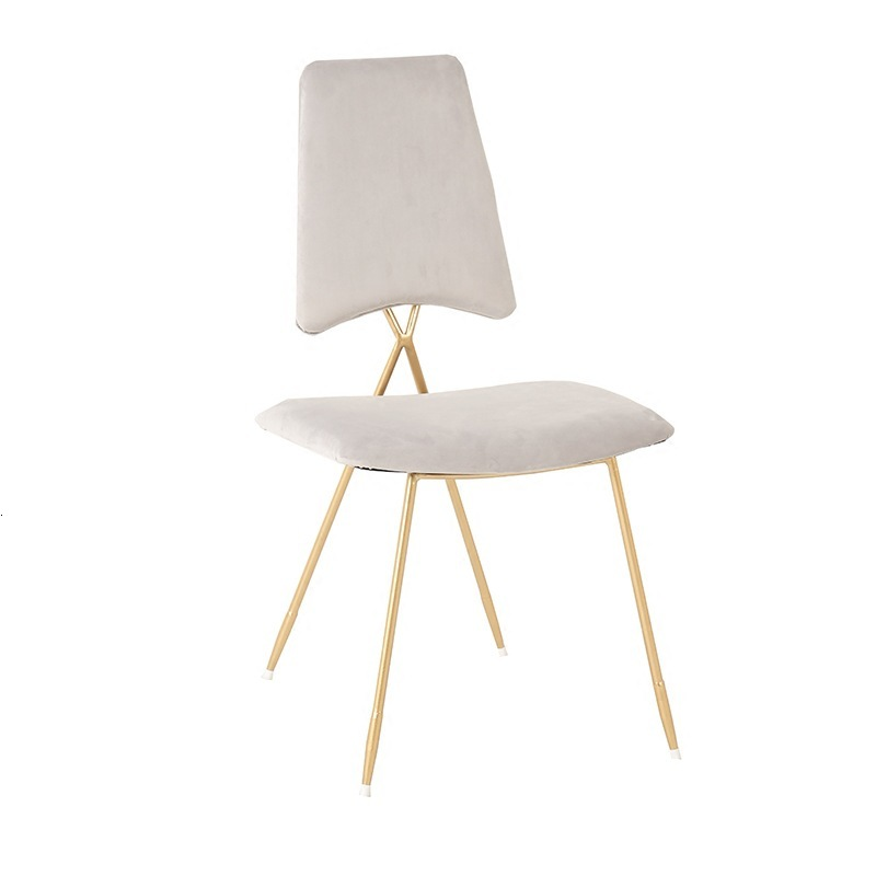 Nordic Iron Makeup Chair For Sale Modern Dining Chairs Minimalist Restaurant Chairs Light Luxurious Cafe Chair Cadeira White