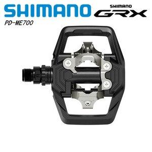 """Image 1 - SHIMANO GRX פ""""ד ME700 SPD שביל מתכוונן יציב דוושת עם רחב משטח 11 מהירות עבור אנדורו MTB אופני הרי אופניים שחור"""