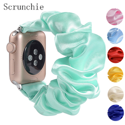 Scrunchie Elastic Strap for apple watch 5 band 44mm 40mm women watchband bracelet for series 5 4 3 for iwatch band 38mm 42mm 38