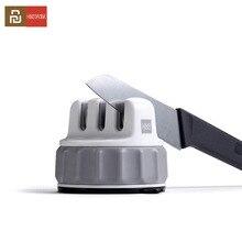 Youpin Huohou Mini sabit bileme taşı üçlü tekerlek Whetstone süper emme bıçak bileyici bileme aracı Grindstone