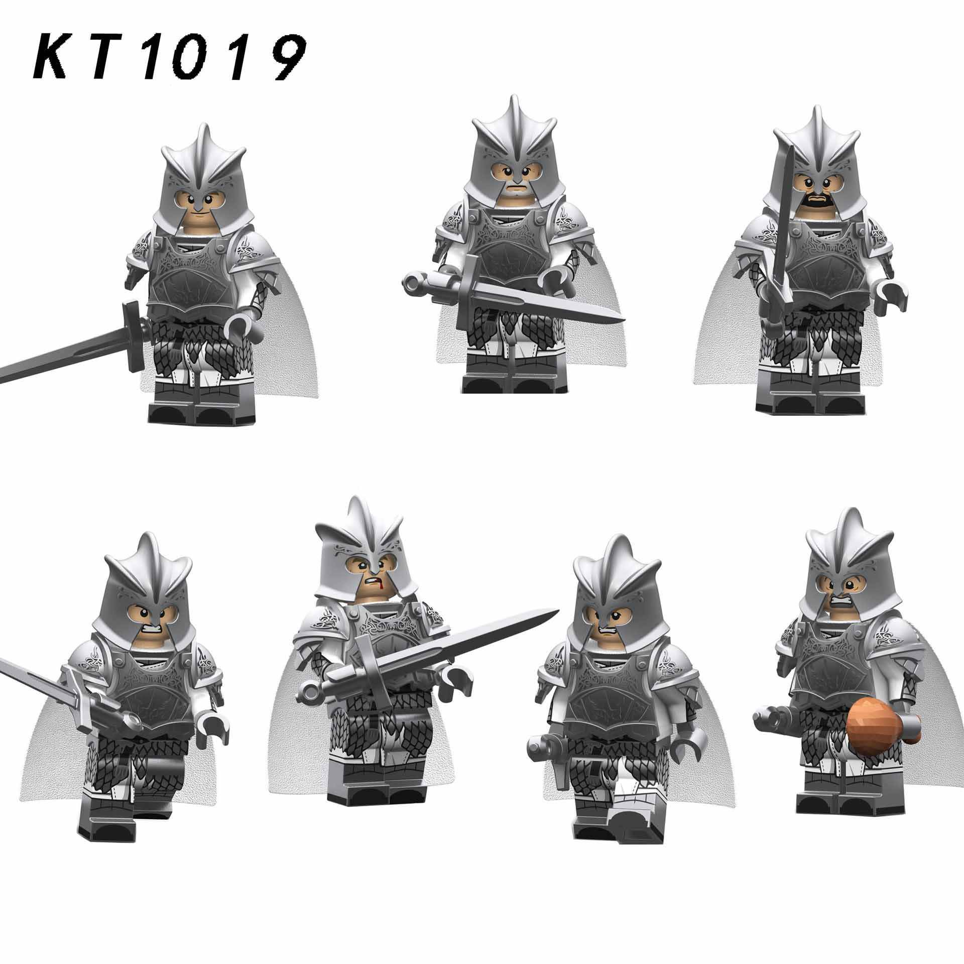 Compatível Legoingly Solstício de Inverno de Gelo e fogo jogo de Tronos da Cidade de Prata ferro guarda Armas minifigures Lu Jiabing Montar blocos de brinquedo