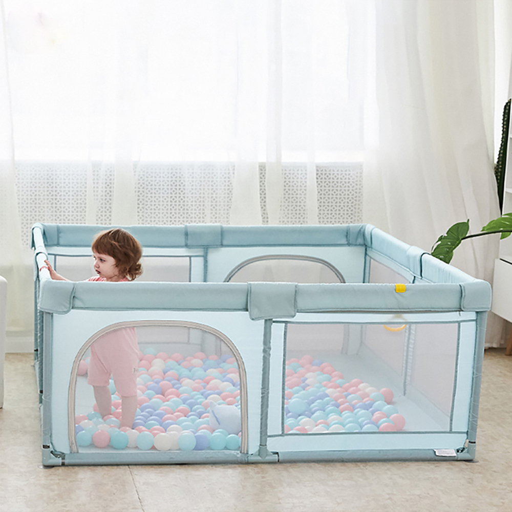 Baby Playpen Fence Portable Play Yard Indoor Outdoor Safety Barrier Ball Pit Activity Centre Toddlers Infant Crawling Playground