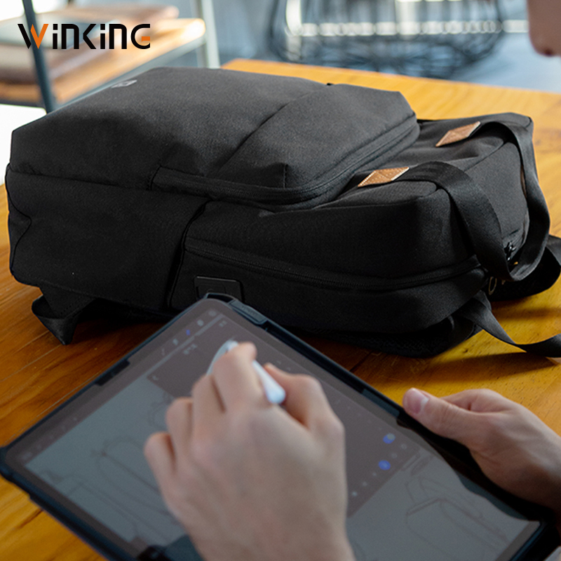 Kingsons homme sac à dos Fit 15 pouces ordinateur portable USB recharge multi-couche espace voyage homme sac Anti-voleur Mochila - 3