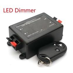 LED Single Color Dimmer 3 Key RF Remote Control Wireless LED Controller 12V 24V DC 8A