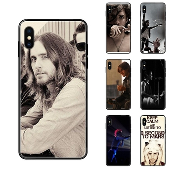 Tpu Black Soft Shell Phone Case 30 Seconds To Mars 30stm Band Collection For Xiaomi Redmi Note 4 5 5A 6 7 8 8T 9 9S Pro Max image