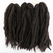 SOKU Synthetic Marley Braids Black Crochet Hair Extensions Dreadlock Braiding Low Temperature Fiber Kinky Braids For Afro Women cheap CN(Origin) 20strands pack Pure Color DRBF-9195D 19Strands pack