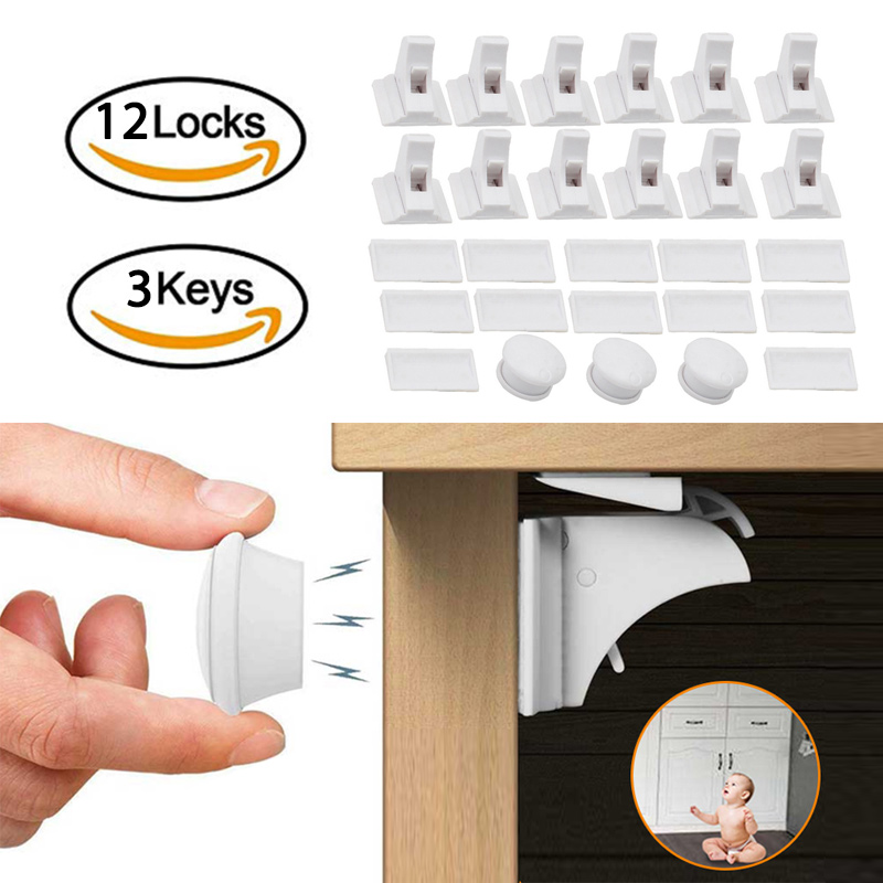 Magnetic Locks Protection From Children Door Stopper Baby Safety Lock Infant Security Locks Drawer Latch Cabinet Lock Limiter