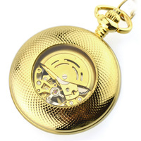 Pure copper automatic movement Black Roman Men Mechanical Pocket Watch ancient hollow retro Dial Chian Roman Number