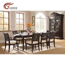 Деревянный обеденный столик с 8 стульями и стулья для столовой Современный WA420