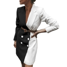 Spring Autumn Women Trench Patchwork Double Breasted Long Coat Ladies Casual Bus