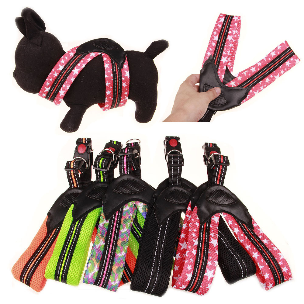 Triangular Mesh Dog Chest Strap Pet Dog Suspender Strap 5 PCs Color Width 5 Cm Suitable Medium For Dogs