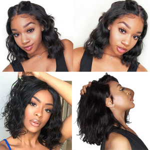 Image 4 - 4x4 Lace Closure Wig Body Wave Wig Short Bob Lace Front Human Hair Wigs Pre Plucked Brazilian Remy Hair Wig For Black Women