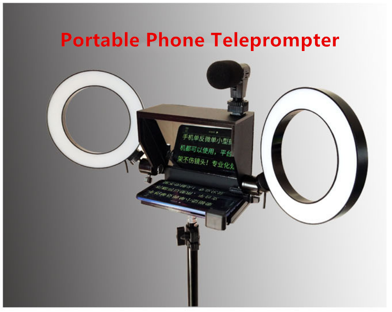 2020 New Portable Prompter Smartphone Teleprompter with remote control for News Live Interview Speech for Mobile Phone