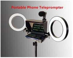 Novo prompter portátil para celular 2020, telefone com controle remoto para notícias, entrevista ao vivo, discurso para telefone móvel