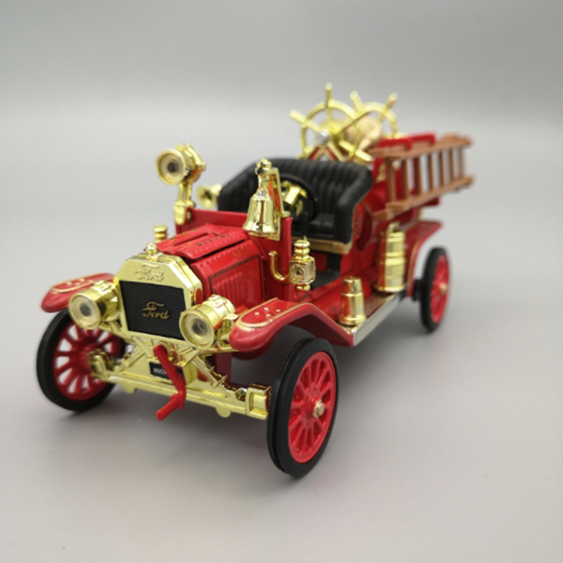 1/43 Scale 11CM Alloy Metal Diecast Classic 1914 Fire Truck SUV Car Auto Model Toys F Children Kids Gifts Collection