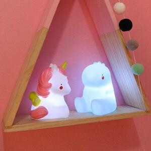 Image 4 - 漫画ユニコーンキリン恐竜クマランプ夜の光の子供子供のおもちゃ誕生日クリスマスギフトホームデコレーションドロップ無料
