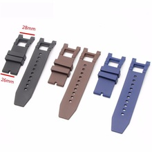 High quality 28mm Black watchband Waterproof Rubber for Subaqua Watch Band Belt For Invicta strap Noma III 3 - 18520 19828