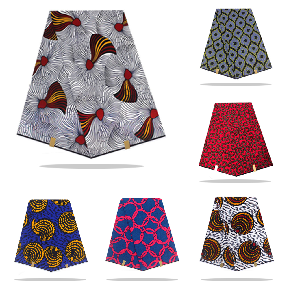 Tissu de cire africaine haute qualité coton matériel Ankara tissu à coudre véritable néerlandais véritable cire hollandaise 6yard pour robe