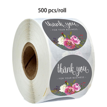 500 pcs/roll flower stickers thank you for your business Boutiques are decorated in bags, tissues, boxes sticker
