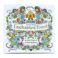 Coloring-Book Forest Adult Enchanted Kids DIY Toys School-Craft-Supply 24pages English-Edition