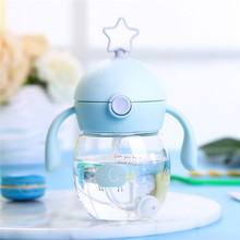 350ml Kids Water Bottle With Straw Sippy Cup Tritan Bottles for Children BPA Free Plastic Sports Direct Drinking Drinkware