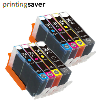 8pcs 364xl 364 Compatible ink cartridge For HP 5510 5515 6510 7520 6520 5520 B010a B109a B209a B209c Deskjet 3070A printer 178 xl ink cartridge with new chip for hp photosmart 5510 5520 6510 6520 7520 3070a 3520 4610 4620 ink jet printer for hp 178