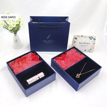 Christmas Gift Lipstick Jewelry Box Gift Box Artificial Rose For Party Birthday Wedding Girl Mothers Day Valentines Day Gifts