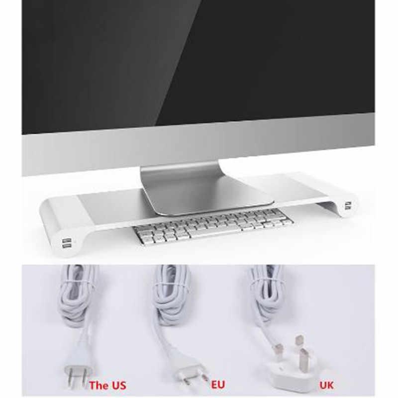 コンピュータ画面でスタンド 4 usb プラグモニターブラケット/スタンドコンピュータサポート lapdesks 電話料金の米国/eu/英国規制