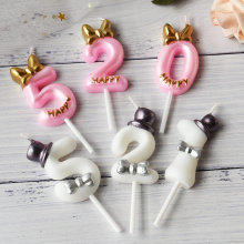 Украшения для торта с цифрами, свечи для дня рождения, украшения для торта 0, 1, 2, 3, 4, 5, 6, 7, 8, 9, вечерние украшения для торта