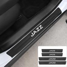 4 pçs de fibra carbono protetores do peitoril da porta do carro adesivos para honda jazz piloto odyssey insight accord civci crv caber hrv