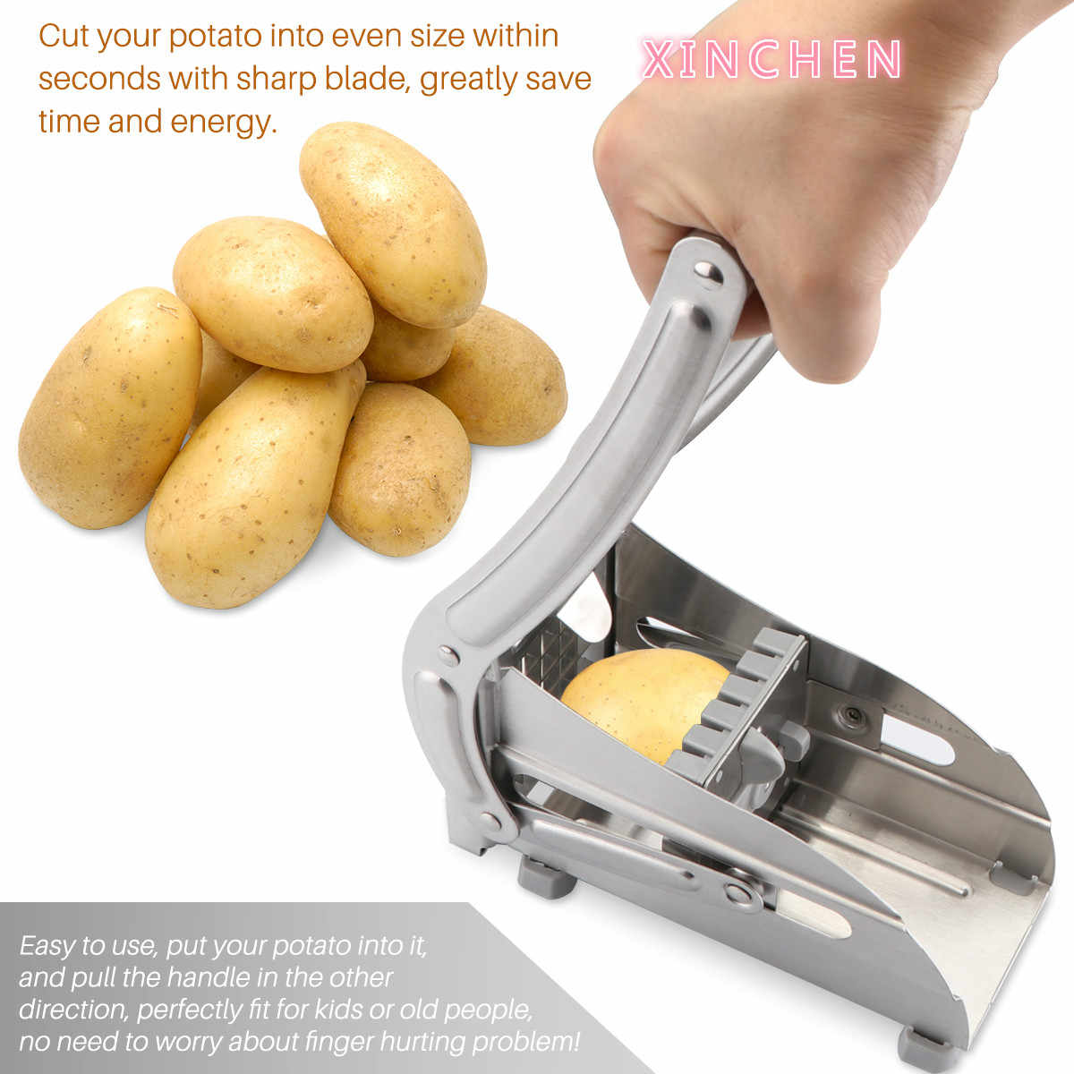 XINCHEN  Cutting Machine Cutting French Fries Best Value Stainless Steel Does Not Use Home Potato Slicer Cucumber