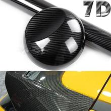 5D High Glossy Carbon Fiber Vinyl Film Car Styling Wrap Motorcycle Accessories Interior