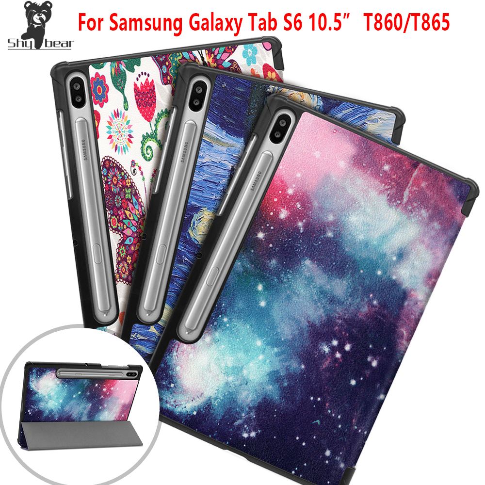 New Arrival Case for Samsung Galaxy Tab S6 T860 SM-T860 T865 10.5'' Inch 2019 Protective Magnetic Tablet Cover Case + Gift image