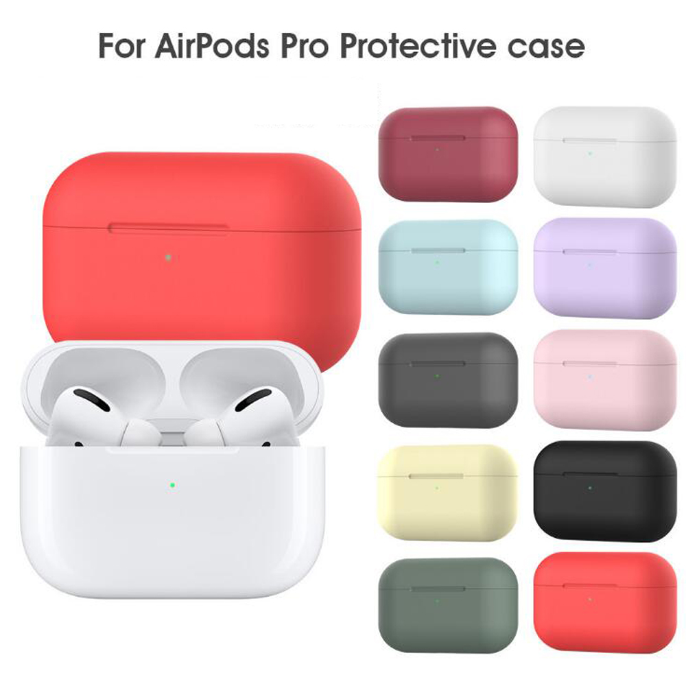 Silicone Protective Case Bluetooth Earbuds Shockproof Rubber Cover Dual Color for airpods 3 for airpods Pro 3rd Gen for airpods