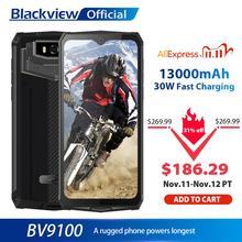 Blackview BV9100 IP68 防水携帯電話 13000mah 30 ワット高速充電 4 グラム携帯電話MTK6765 4 ギガバイト + 64 ギガバイト 16.0MP頑丈なスマートフォン