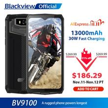 Blackview BV9100 IP68 Waterdicht Mobiel 13000Mah 30W Snel Opladen 4G Mobiele Telefoon MTK6765 4Gb + 64gb 16.0MP Robuuste Smartphone
