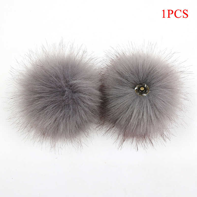 Kreatif Imitasi Fox Bulu Lembut Pom Warna-warni Gesper Pompon Berguna Buatan Tangan Menjahit Kerajinan Perlengkapan Wanita Aksesoris Sepatu