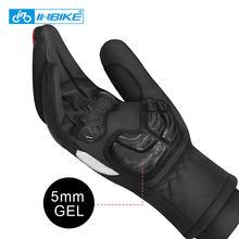 INBIKE-gants résistant au vent pour faire du vélo, vtt et moto, épais et chaud, avec écran tactile, hiver